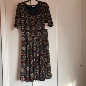 NWT Lularoe Nicole A-line dress w/ 3/4 sleeves